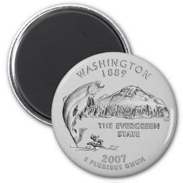 USA Themed Washington State Quarter Magnet