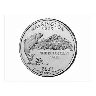 USA Themed Washington State Quarter Postcard