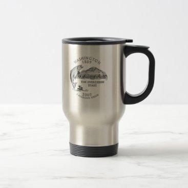 USA Themed Washington State Quarter Travel Mug