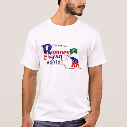 Washington State Romney and Ryan 2012 Tee Shirt