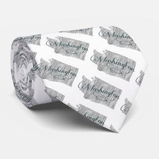 Washington State Typography Tie