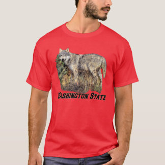 Washington State (Wolf) Adult Dark T-Shirt