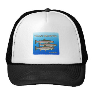 Washington Steelhead Trout Mesh Hats