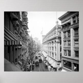 Washington Street, Boston, Massachusetts: 1906 Poster