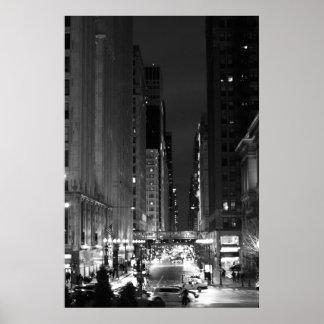 Washington Street - Chicago, IL Poster