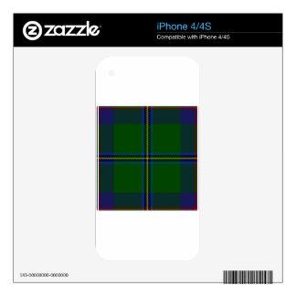 Washington-tartan Skin For iPhone 4S