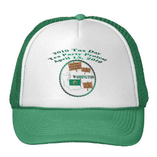 Washington Tax Day Tea Party Protest Mesh Hat