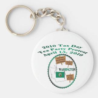 Washington Tax Day Tea Party Protest Keychain