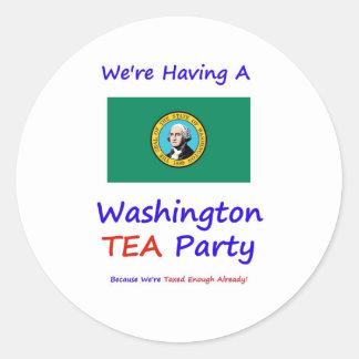Washington TEA Party - We're Taxed Enough Already! Classic Round Sticker