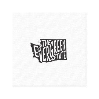 Washington: The Evergreen State Art Canvas Print