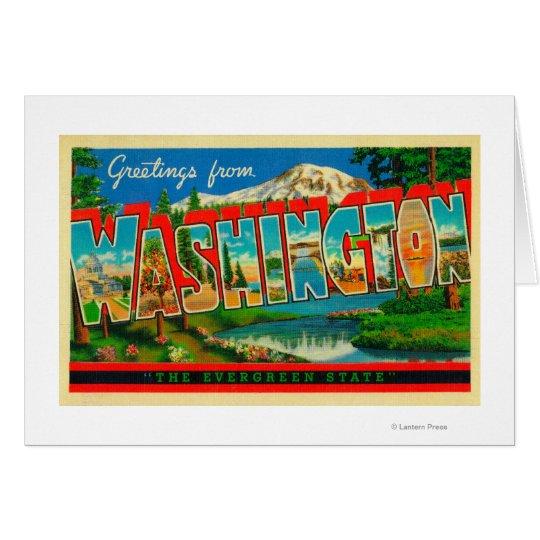 Washington - The Evergreen State Card