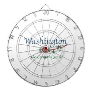 Washington The Evergreen State Dartboard