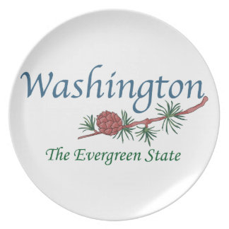 Washington The Evergreen State Plates