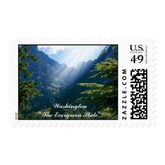 Washington, The Evergreen State Postage
