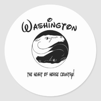 Washington, the Heart of Horse Country Classic Round Sticker