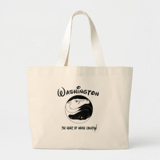 Washington, the Heart of Horse Country Large Tote Bag