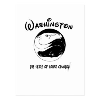 Washington, the Heart of Horse Country Postcard