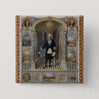 Washington The Mason II Pinback Button