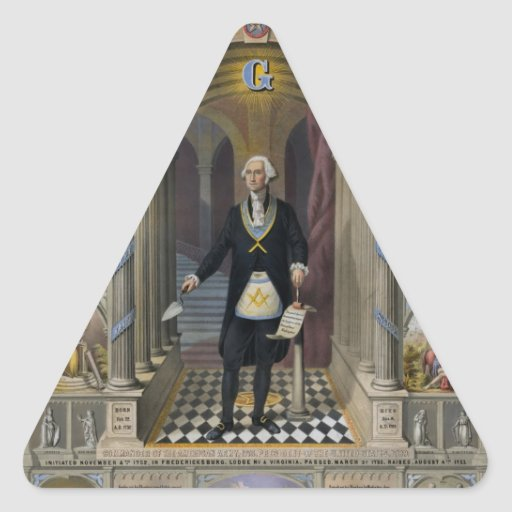 Washington The Mason II Triangle Sticker
