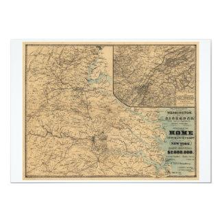 Washington to Richmond Civil War Map (1864) Card