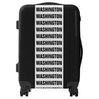 WASHINGTON, Typo black Luggage