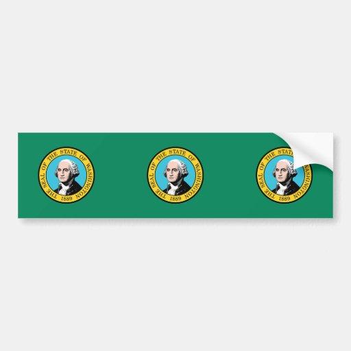 Washington, United States flag Car Bumper Sticker