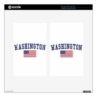 Washington US Flag Decals For Kindle Fire