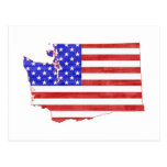 Washington USA flag silhouette state map Postcards