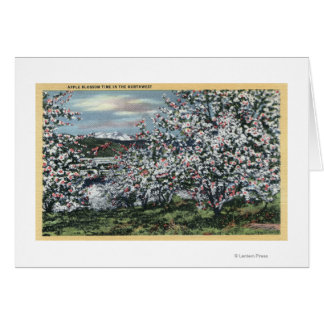 Washington - View of Apple Trees in Blossom Greeting Card