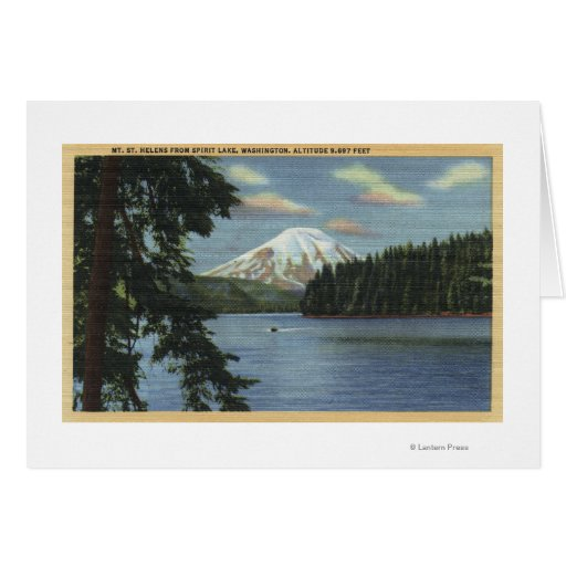 Washington - View of Mt. St. Greeting Cards