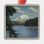 Washington - View of Mt. St. Christmas Tree Ornaments