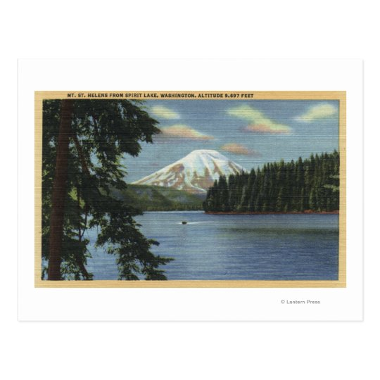 Washington - View of Mt. St. Postcard