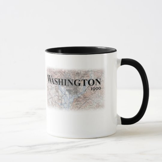 Washington Vintage Map Mug