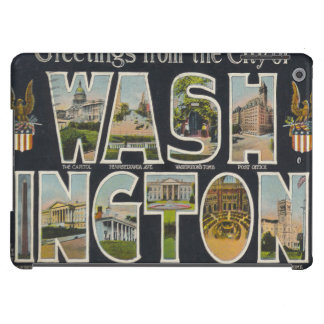 Washington Vintage Travel Postcard Restored Case For iPad Air