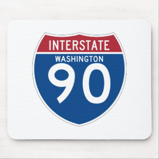 Washington WA I-90 Interstate Highway Shield - Mouse Pad