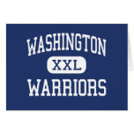 Washington Warriors Middle Springfield Greeting Card