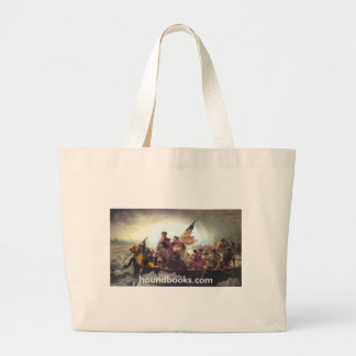 Washington & Wimsey Bloodhound Crossing Delaware Large Tote Bag