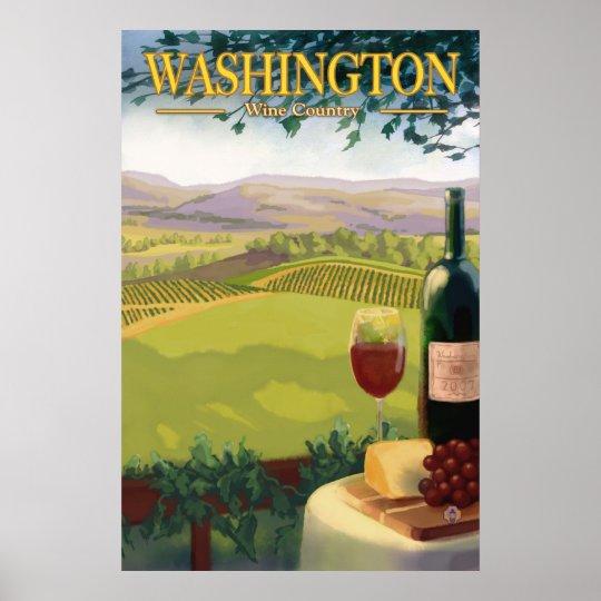 Washington Wine Country - Travel Poster