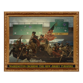 Washington X-ing the Turpike Poster