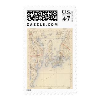 Washington y el condado de Newport Timbres Postales