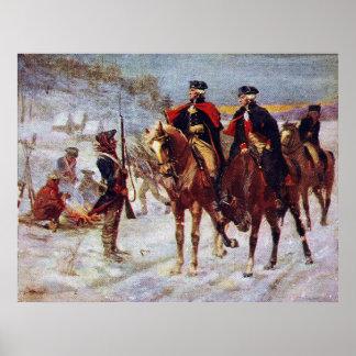 Washington y Lafayette en el ~ de la fragua del Póster