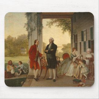 Washington y Lafayette en el Monte Vernon Alfombrillas De Ratones