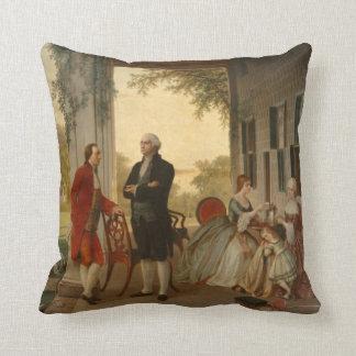 Washington y Lafayette en la almohada del Monte Ve