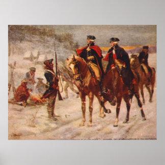 Washington y Lafayette en la fragua del valle Póster