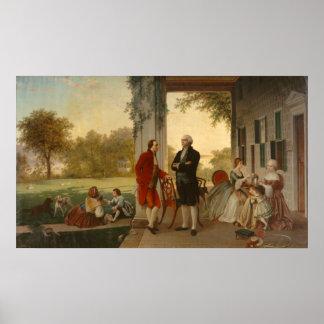 Washington y Lafayette Póster