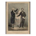 Washington y Lincoln Tarjeta Postal