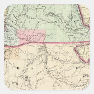 Washington y Oregon Calcomanías Cuadradases