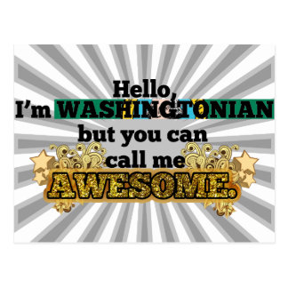 Washingtonian, pero me llama impresionante tarjeta postal