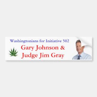 Washingtonians para la iniciativa 502 pegatina para auto