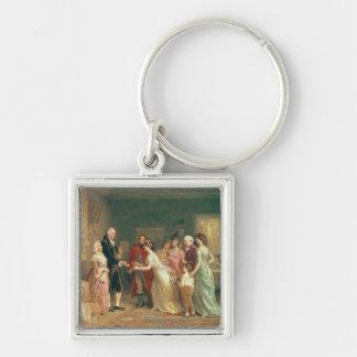 Washington's Birthday, 1798 Key Chain